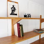 Bookshelves (5) - Wall mounted bookshelves - Modular shelving - Mid Century Bookcase - Modern Wall Unit