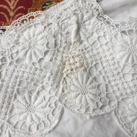 Vintage Indonesian Camisole with Dutch Lace - image 7