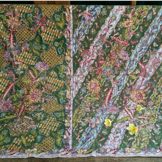 Vintage Peranakan Hand Drawn Tiga Negeri Sarong Ba