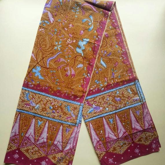 Vintage Old Demakan Hand Drawn Batik Javanese Shaw
