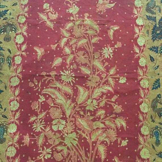 Vintage Indonesian Hand Drawn Batik Sarung Dutch (