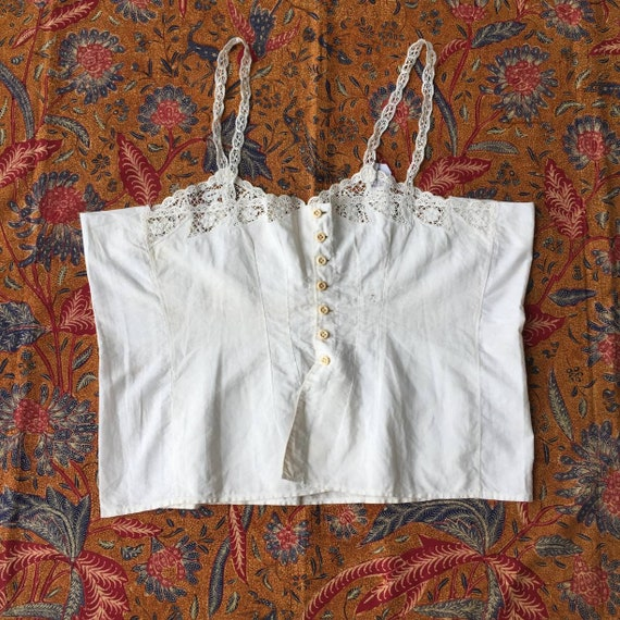 Vintage Indonesian Camisole Dutch Lace in White