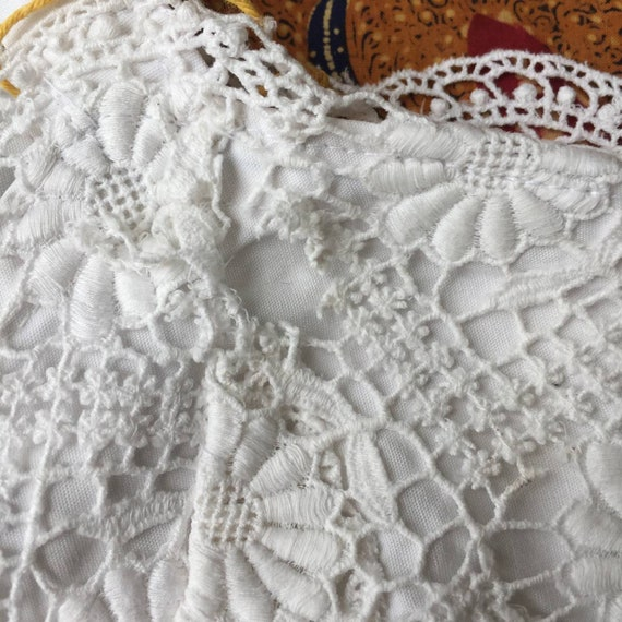 Vintage Indonesian Camisole with Dutch Lace - image 6