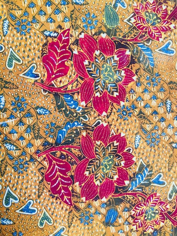 Vintage Old Semarangan Indonesian Hand Drawn Batik