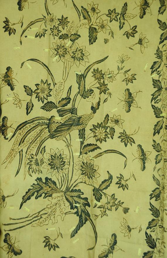 Vintage Sarong Lokcan Hand Drawn Batik Old Sutra B