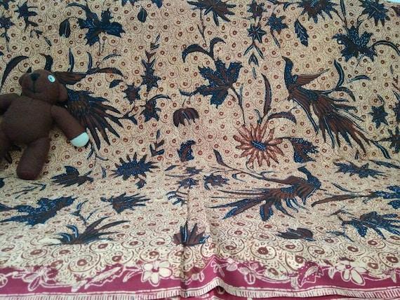 Vintage Hand Drawn Banyumas Batik with Phoenix and