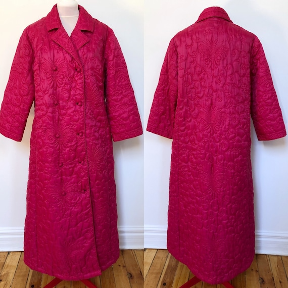 Medium 1960's Quilted Pink Housecoat - Vintage Lou
