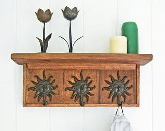 Rustic Wooden Coat Rack