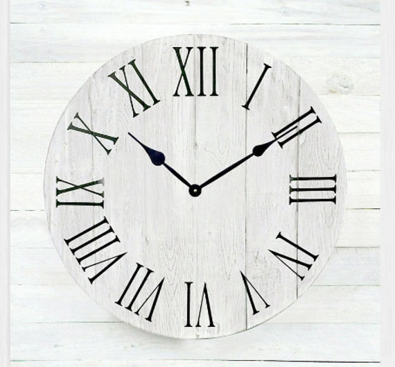 Roman Numeral Wall Clock Large Wall Design Ideas
