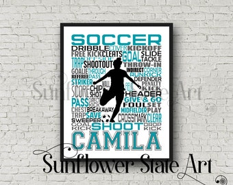 46083c04b6 Personalized Soccer Poster