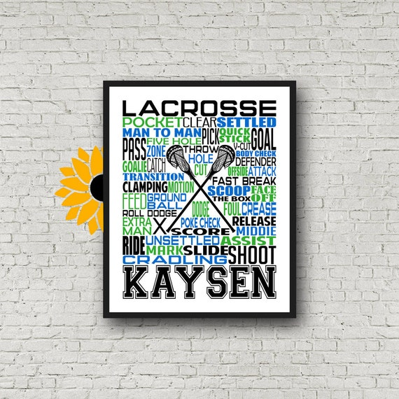 Men's Lacrosse Poster, Gift for Lacrosse Player, Personalized Lacrosse Poster, Lacrosse Gift Ideas, Lacrosse Typography, Lacrosse Team Gift