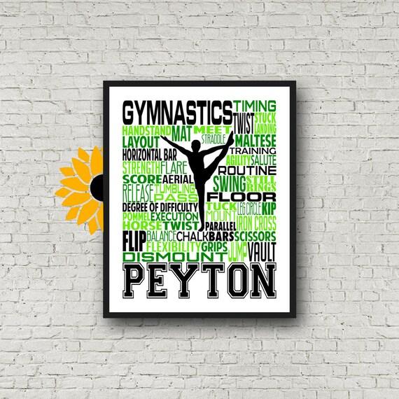 Male Gymnast Poster,  Gymnast Typography, Pommel Horse, Still Rings, Parallel Bars, Horizontal Bar, Floor Exercise, Boy Gymnast