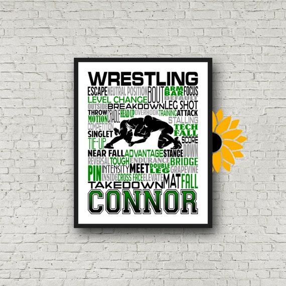 Wrestling Typography, Gift for Wrestler, Wrestling Gift, Wrestler Art, Personalized Wrestler Poster, Wrestling Team Gift