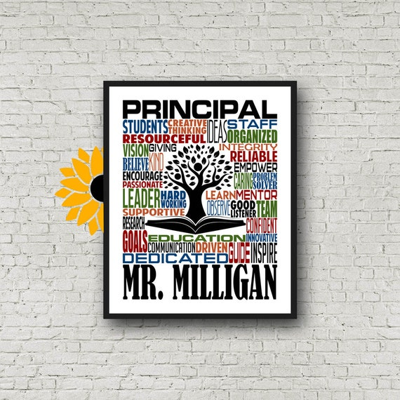 Personalized Principal Poster, Teacher Inspiration Gift, Educator Gift, Gift for Principal, Teacher Print, Special Education Gift