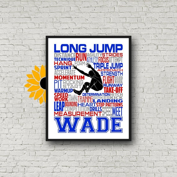 Personalized Long Jump Poster, Gift for Long Jump, Track and Field gift, Track Team gift, Long Jump Gift, Triple Jump Poster, Triple Jump