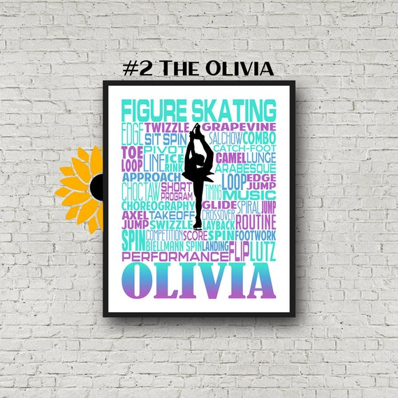 Personalized Figure Skating Poster Typography, Figure Skater Gift, Ice Skater, Ice Skating, Gift for Ice Skater, Gift for Figure Skater