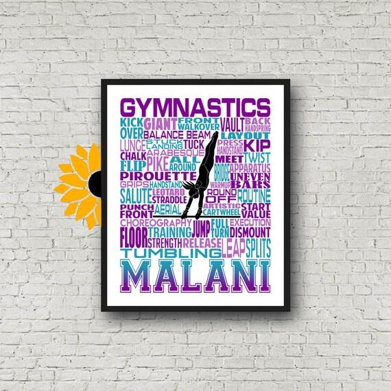 Gymnastics Uneven Bars Typography, Gymnast Uneven Bars, Personalized Gymnastics Poster, Gymnast Gift, Gift for Gymnasts, Gymnastic Team Gift