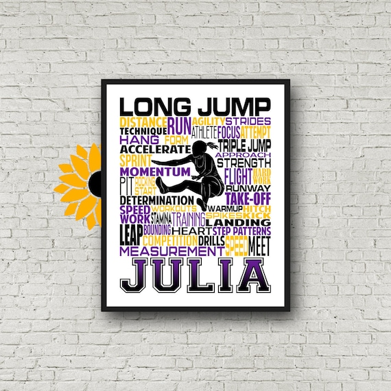 Personalized Triple Jump Poster, Gift for Triple Jump, Track and Field gift, Track Team gift, Triple Jump Gift, Long Jump Poster