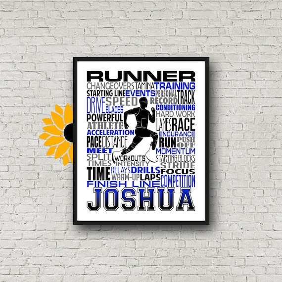 Personalized Para-Athlete Runner Poster, Para Athlete Runner Typography Print, Track and Field Poster, Gift for Blade Runner