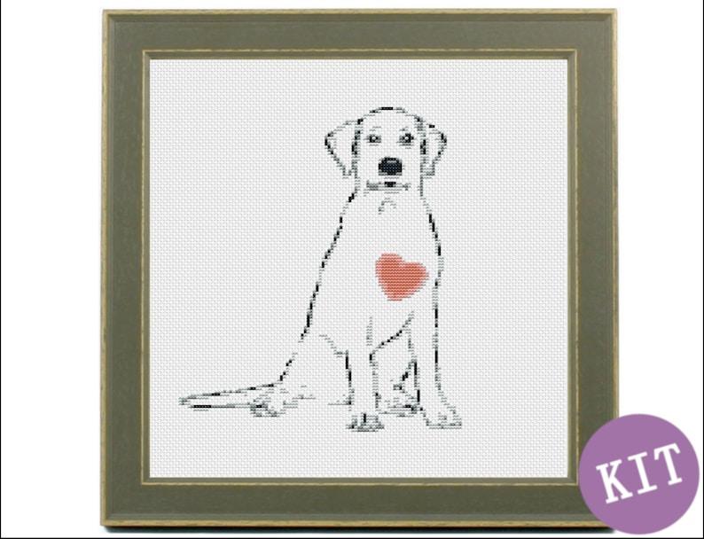 Dog Cross Stitch Kit Love My Labrador