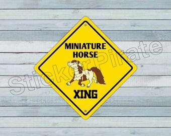 "Arabian Horse Crossing Sign Zone Xing 12/"" animals farm ranch cowboy rider pony"
