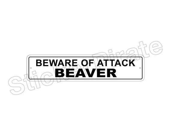 """*Aluminum* Beware Of Attack Wallaby  4/"""" x 18/"""" Funny Metal Novelty Sign"""