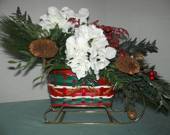 Winter Sleigh Table Top