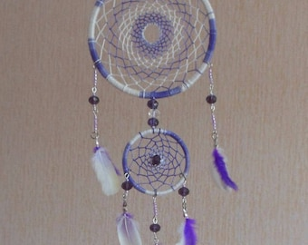 "Dreamcatcher ""Lilac"" \ Medium Dream catcher automobile \ attrape reves \ Traumfanger \ Acchiappasogni \ purpule \ Wall Hangings \ car decor"