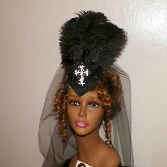 Gothic Fascinator Headdress Lolita Cross Victorian Hat  89735394f3c