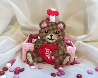 Valentine bear basket