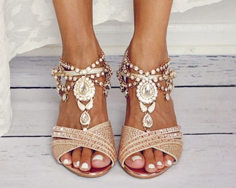 04a066ac7e33 Gold Barefoot Sandals Beach Wedding Shoes for the Bride Bohemian Foot  Jewelry Destination Wedding Sandals Gold Foot Thong  Bali Bare Sandals