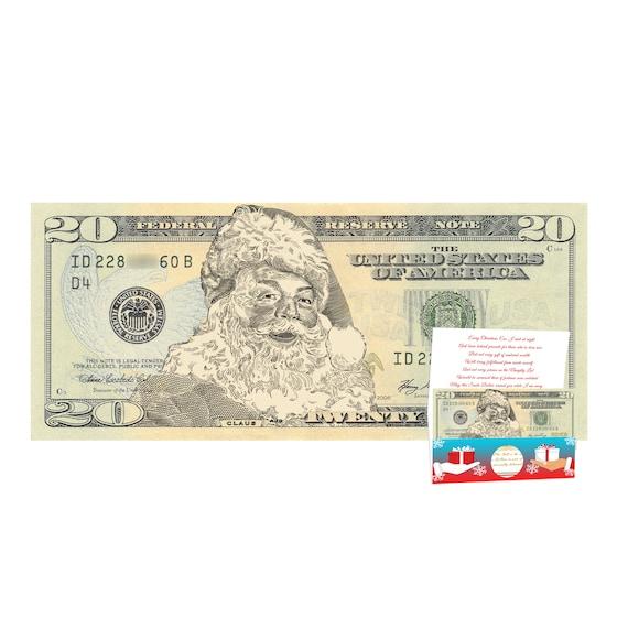 REAL Money! Santa Claus Christmas Dollar Bill Great Stocking Stuffer!!!