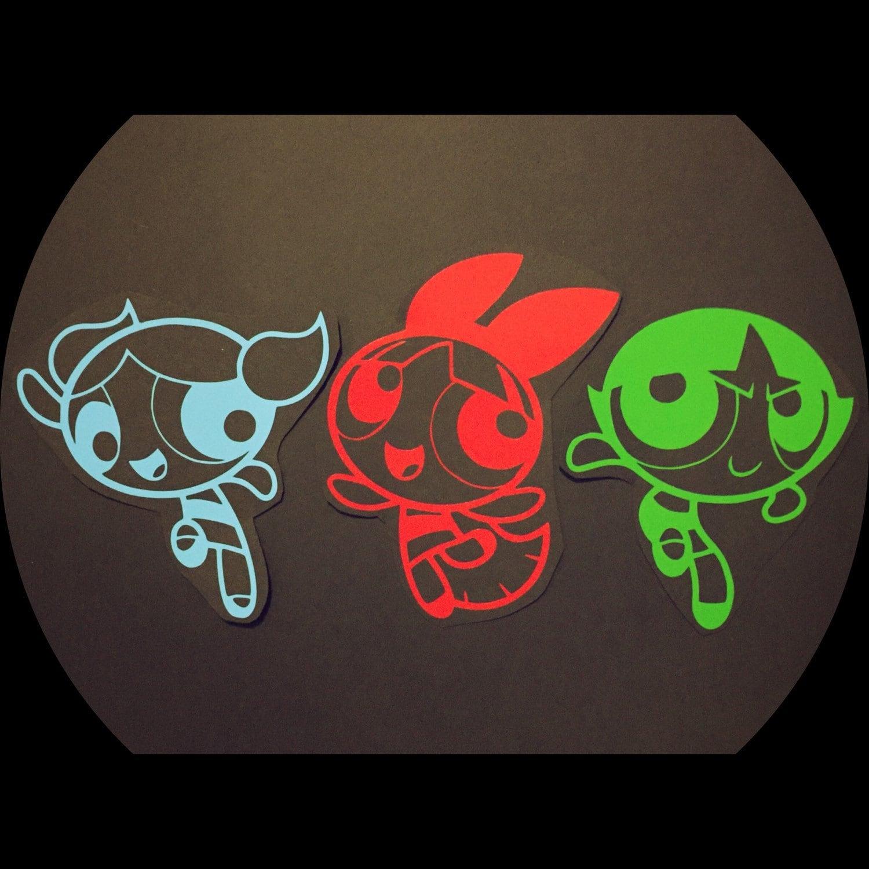 """Powerpuff Girls Bubbles Vinyl Car Sticker Decal   2.5/"""""""