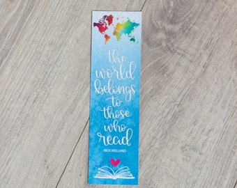 The World Belongs to Those Who Read - Bookmark