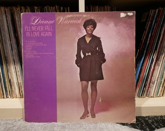 """Dionne Warwick """"I'll Never Fall In Love Again"""" Album LP on Scepter Records 1970 (First US Pressing)"""