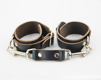 Switch Leather Co. Set of two ankle cuffs - Black