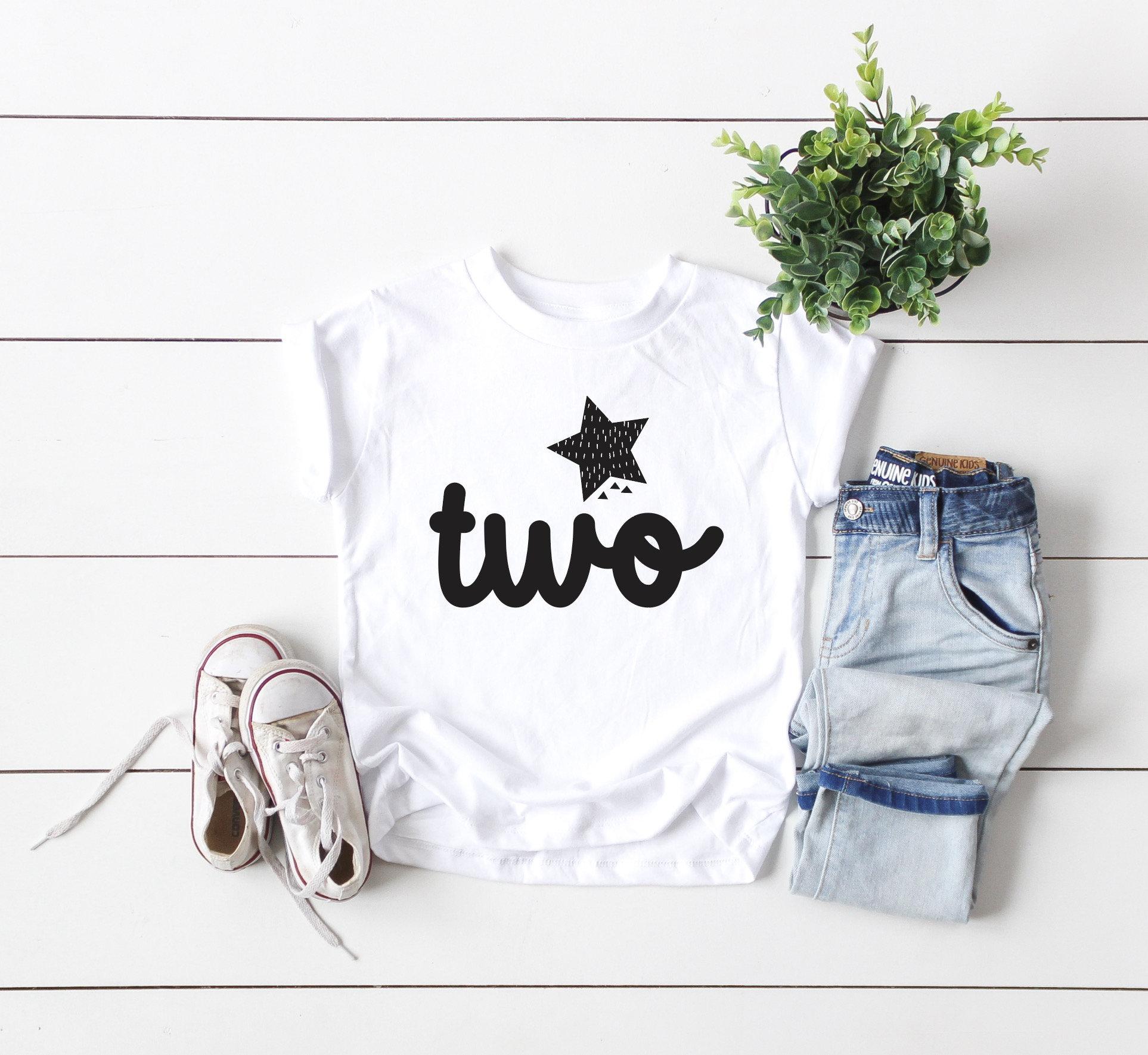 Toddler Birthday Tee 2nd Tees Kids Cool Shirts