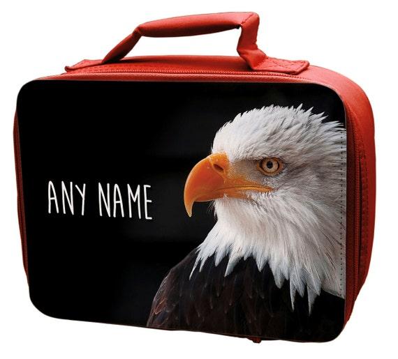 Aigle à tête blanche personnalises rouge sac à Lunch - élémentaire - enfants - enfants-filles-garçons