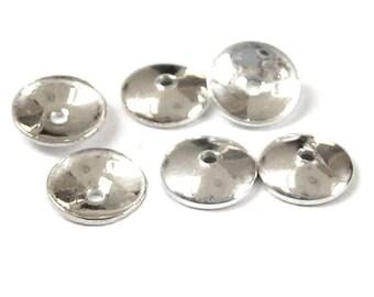 """10x Halblinsen /""""spitz/"""" 8 mm 925 Silber Schmuckzubehör"""