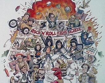Ramones– Rock 'N' Roll High School 70's Movie Soundtrack Vinyl LP