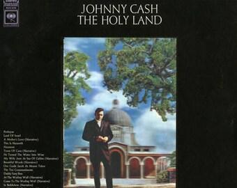 Johnny Cash- The Holy Land, Lenticular Art 60's Country Gospel Religious Spoken Word Vinyl LP