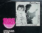 RARE David Bowie - RCA College Radio Series Vol. I 80 39 s Rock Broadcast Promo Vinyl LP