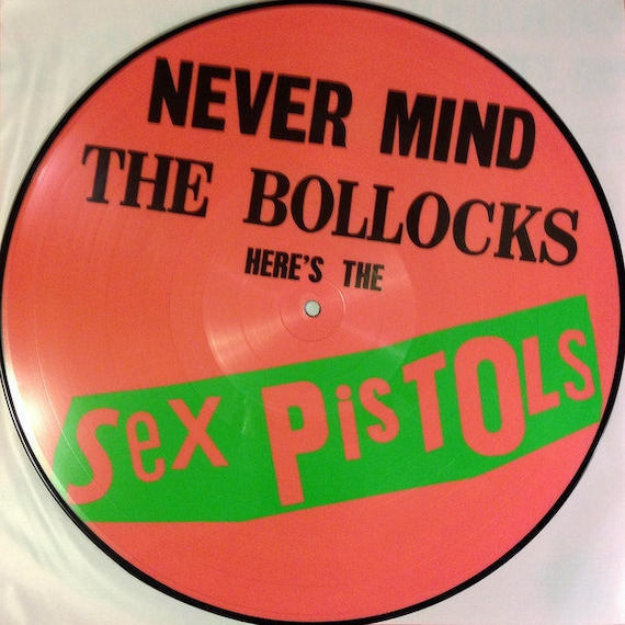 Unique THE SEX PISTOLS EARRINGS vinyl NEVER MIND THE BOLLOCKS record PUNK record