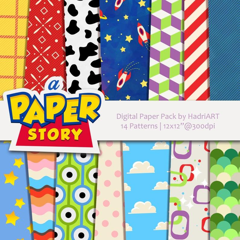 Toy Story Digital Paper Printable Patterns image 0