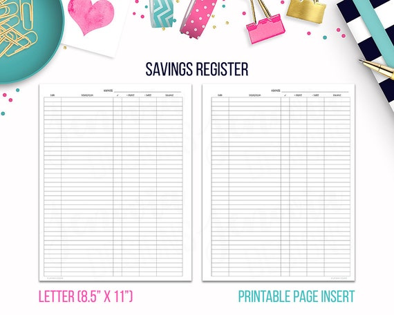 photo regarding Printable Budget Binder identify Letter: Financial savings Sign up Spending plan Binder Printable Web site Add for Huge Delighted Planner® Letter sized Discbound or Ringbound Planners