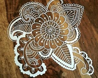 Papercutting template - Paisley Mandala design - Personal Use Only