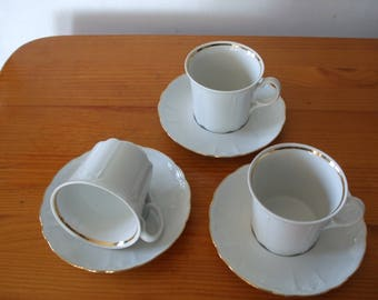 Seltmann Weiden Bavaria 3  x tea cups/coffee cans and saucers