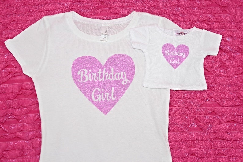 Matching Girl And Doll Birthday Shirts Dollie And Me Clothes Etsy
