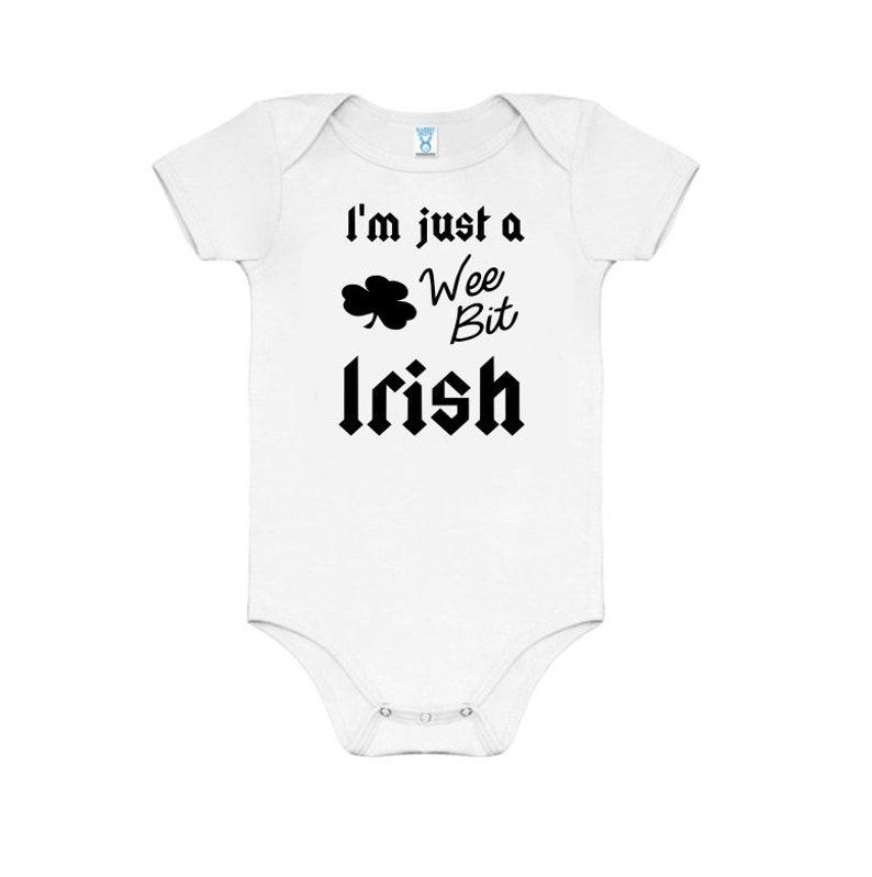 4cfcf5c9c I m just a wee bit irish baby onepiece gift mom dad
