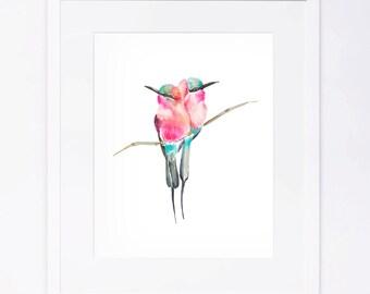 Watercolor Birds Print